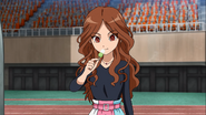 Natsumi eating her hint food