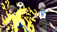 Shindou's Armed broken by Rei's shoot (CS 34 HQ)
