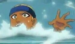 Alan im Wasser