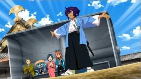 Inazuma Eleven GO Chrono Stone - Mixi Max entre Tsurugi y Okita Souji - Kiku Ichimonji 菊 一文字