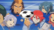 Everyone worried about the ball going towards endou