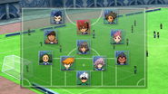 Inazuma Japan's formation Galaxy 1