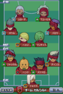 Team Garshield's game formation