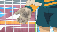 Endou's hand after one shot Episode 25 HD