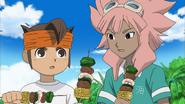 Endou and Tsunami eating