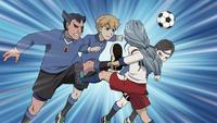 Orpheus midfielders blocking Edgar