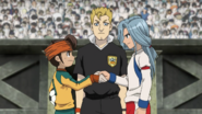 Edgar & Endou shaking hands before their match EP 87