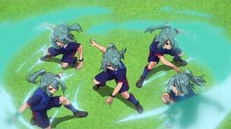 Inazuma Eleven Orion No Kokuin - Red Break vs Spinning Fence