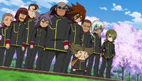 Teikoku arriving at Raimon HQ 127