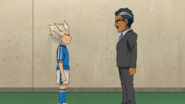 Gouenji talking with his father IE 84 HQ
