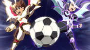Tenma and Yuuichi shooting