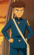 Sangoku in his school uniform