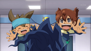 Tenma and Shinsuke jump hug InaChro4 HQ