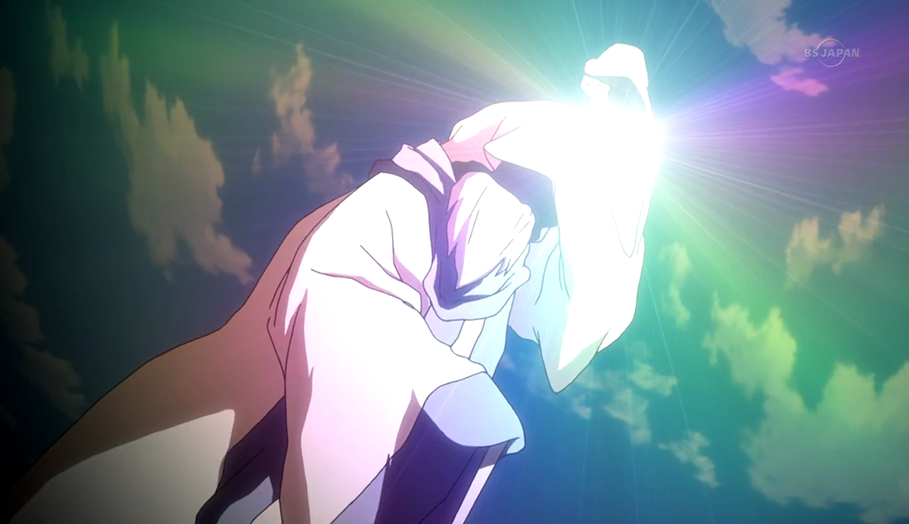 Mysterious man using the Chrono Stone power CS 29 HQ