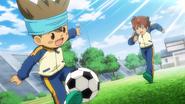 Tenma and Shinsuke playing