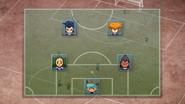 Shinsuke's and Tetsukado's formation against Haniwa