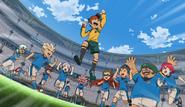Inazuma Japan winning the finals