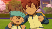 Tenma and Shinsuke happy GO 4 HQ