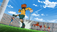 Endou kicked the ball IE 84 HQ