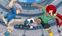 Fubuki and Ryuu fighting for the ball IE 125