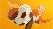 Gouenji's first kick