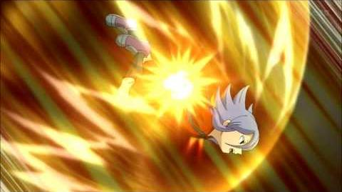 Inazuma Eleven GO Galaxy 1 Kami no Takuto FI and Fire Tornado DD vs Power Spike V3