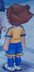 Tenma Soccer Uniform Back Sprite GO Game