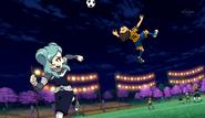 Tasuke stopping the ball
