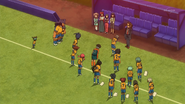 Raimon thanking Coach Kidou