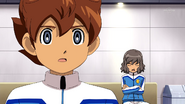 Shindou saying Galaxy 5 HQ