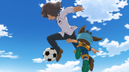 Shindou stealing the ball