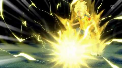 Inazuma Eleven GO Chrono Stone 49 - Grand Luster and God Wind(Keshin Armed) vs Reverse World