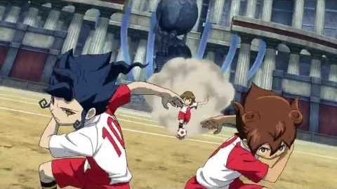Inazuma Eleven GO VS Danball Senki W (イナズマイレブンGO vs ダンボール戦機W) Fire Tornado TC (ファイアトルネード TC) HD