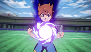 Tenma trying to stop the shoot GO 10