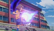 Shindou trying to stop the ball GO 10