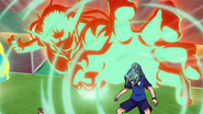 Endou using Fuujin Raijin to catch Kazemaru
