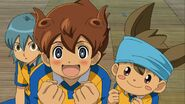Tenma's and Shinsuke's reaction when seeing Someoka GO 30