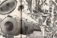Arion y Victor usando el Cañon Hinawa (Manga)