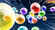 Tiro del arcoiris de burbujas juego 8