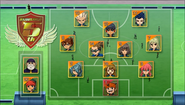 Inazuma Best eleven formation