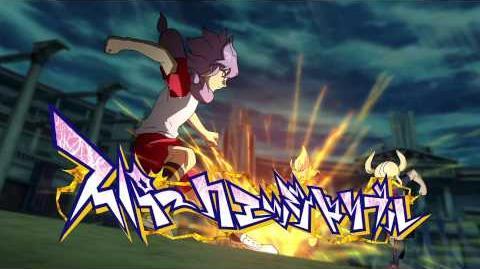 Inazuma Eleven GO VS Danball Senki W (イナズマイレブンGO vs ダンボール戦機W) Spark Edge Dribble (スパークエッジドリブル) HD