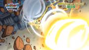 Asterisk Rock broken by Tenma's God Wind (InaDan movie)