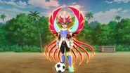 Alpha con su armadura de Avatar ''Comandante de fuego'' FENIX