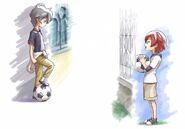 Xavier y Tatsuya de niños
