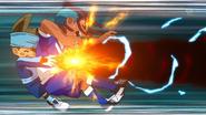 Tetsukado and Shinsuke beaten by the throw Kazankan