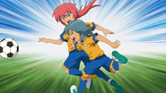Kariya bumping Kirino in purpose