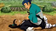 Sakamoto cae accidentalmente encima de Roma (EP28CS)