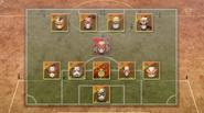 Sandorius Eleven's formation