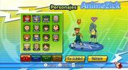 Inazuma Eleven Strikers (Selección de personaje para el Entrenamiento)