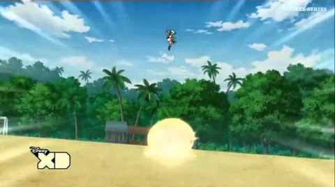 Inazuma Eleven GO 2 Orden de Portero 03 (Aplastamiento)